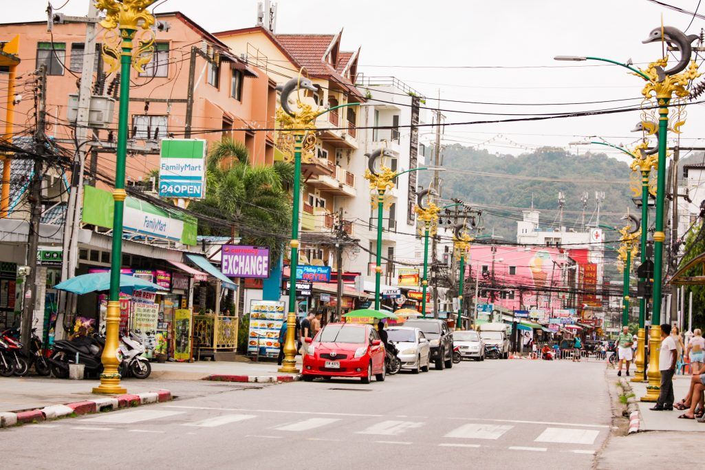 The colourful streets of Patong Beach