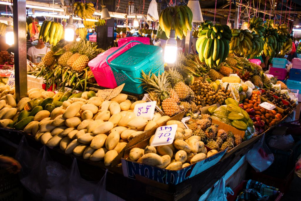 Fruit selection at Banzaan fresh market in Phuket, Thailand
