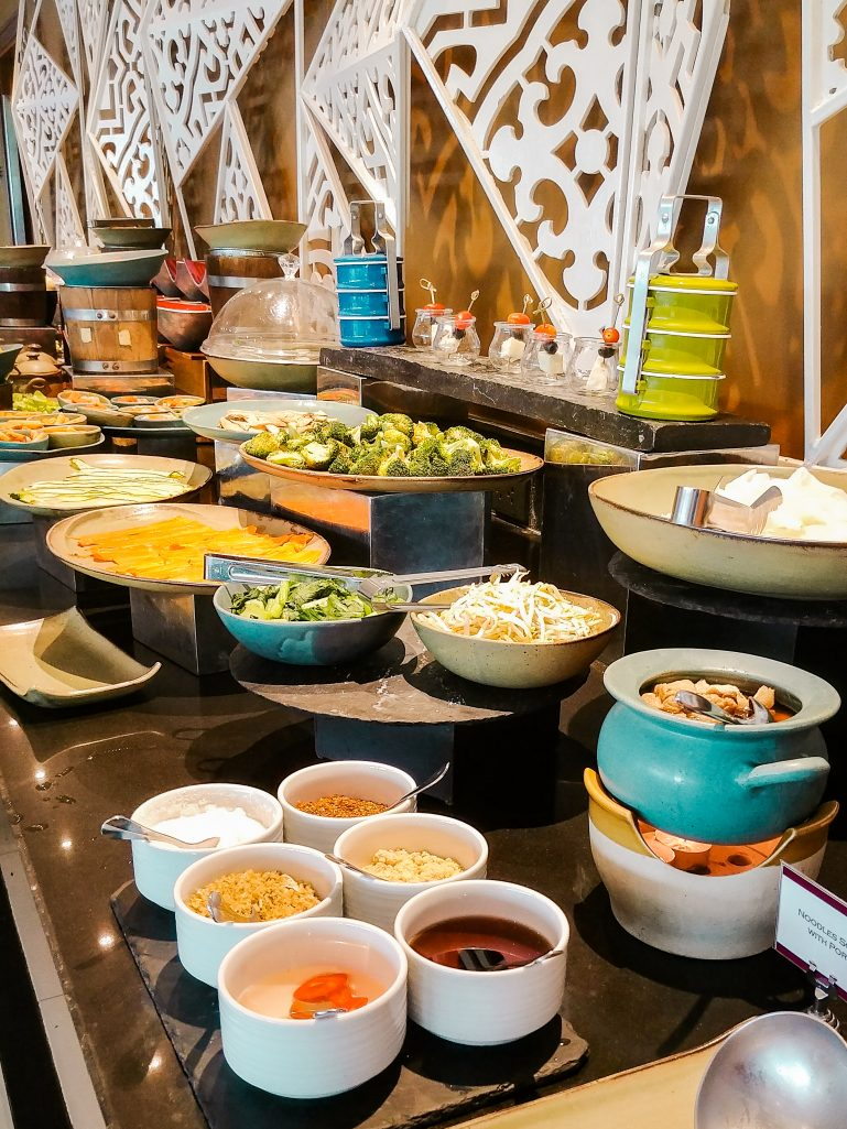 Breakfast buffet at U Zenmaya hotel