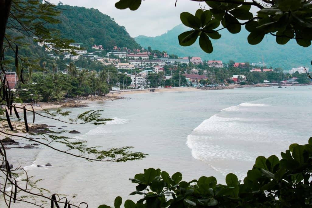 View of Patong Beach Phuket Thailand