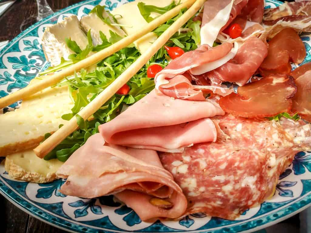 A weekend in Paris - cured meats and cheese apero