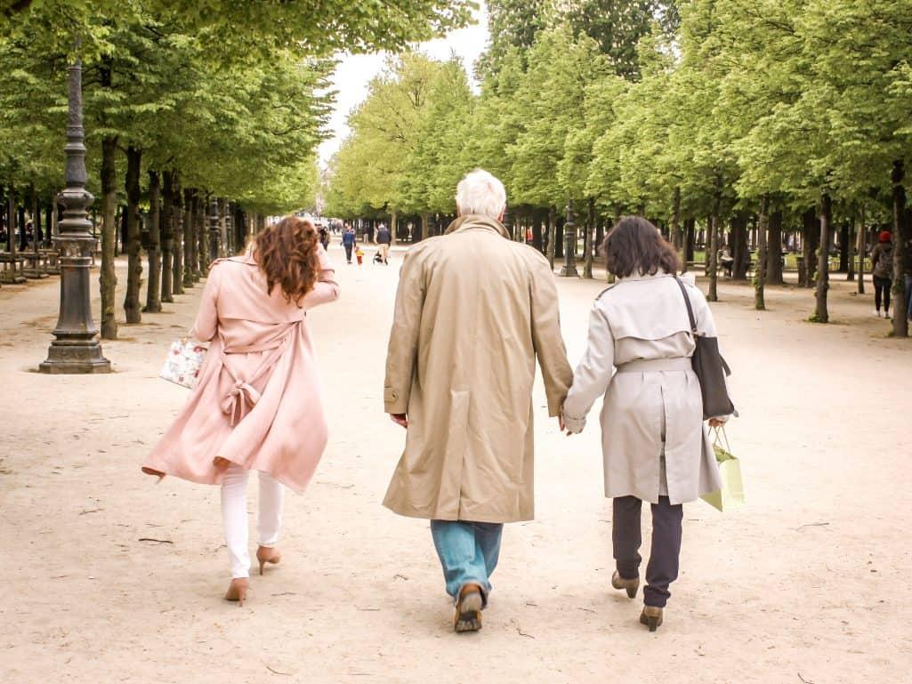 Walking through a park in Paris - after the surprise in Paris