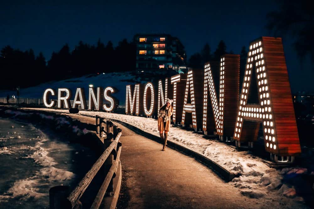 Crans-Montana by night