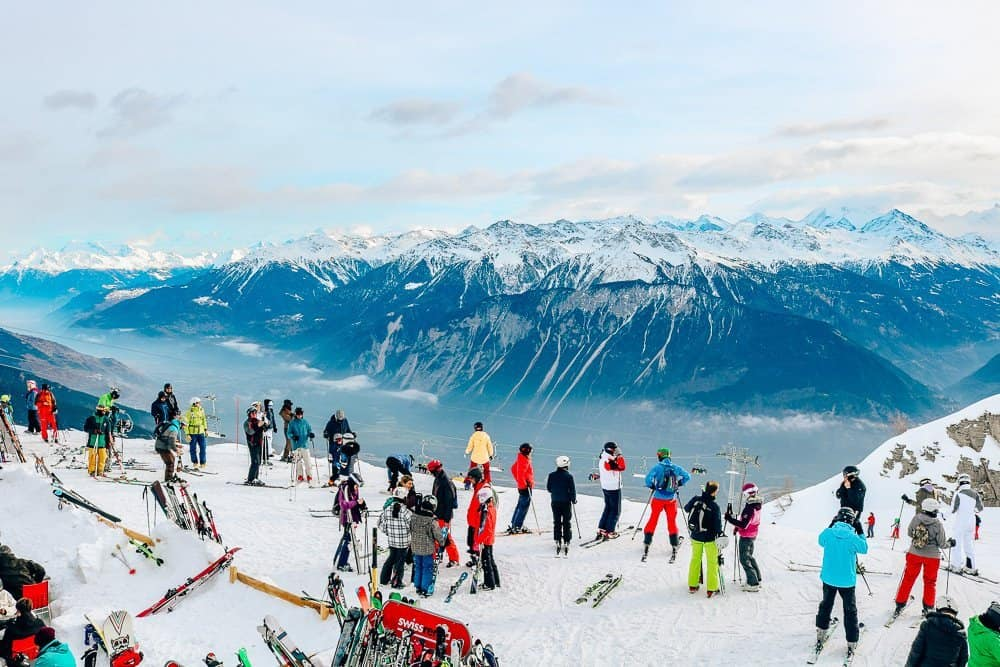 Skiing in Switzerland - Crans-Montana
